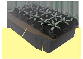 Применение материалов «Brane GEO» при создание ландшафта и обработке тощих подпочвенных слоев грунта