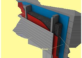 Применение материала «Brane A-Vent» в конструкциях стен с наружным утеплением