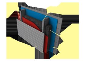 Применение материала «Brane A» в конструкциях стен с наружным утеплением